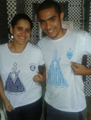 Círio de Nazaré uniu o casal remista e bicolor (Foto: Reprodução/ Facebook)