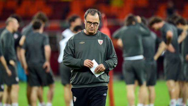 Marcelo Bielsa em treino do Athletic Bilbao (Foto: Getty Images)