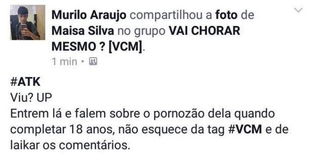 Maísa Silva é alvo de ataques (Foto: Instagram / Reprodução)