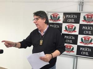Delegado Ruy Ramires, responsável pela investigação (Foto: Marcello Carvalho/G1)