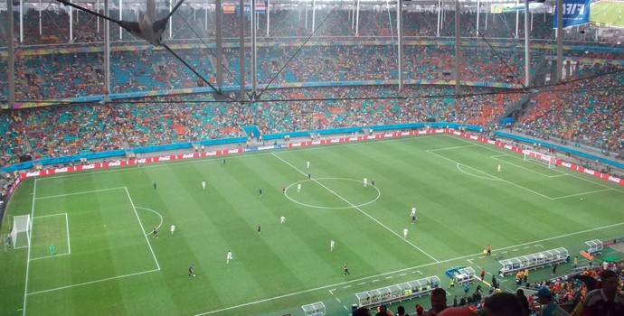 Estádio Fonte Nova Holanda x Espanha (Foto: Thiago Pereira)