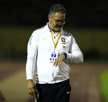 Rogério Micale, Brasil x Argentina, sub-20 (Foto: EFE/José Jácome)