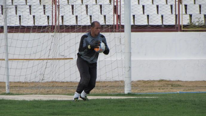Guarany de Sobral, treino, Junco, Eliardo, goleiro (Foto: Juscelino Filho)