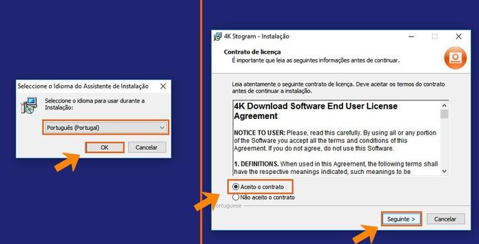 Inicie a instalação do 4K Stogram no seu computador (Foto: Reprodução/Barbara Mannara)