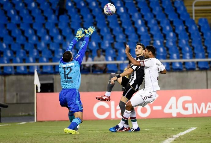 Botafogo x Fluminense, Gum, Pimpão e Cavalieri (Foto: André Durão)