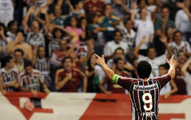 fred gol Fluminense (Foto: AFP)