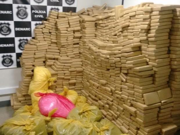 Polícia apreende mais de 2,7 toneladas de maconha em Trindade, Goiás (Foto: Divulgação/ Polícia Civil)