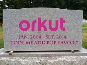 Lápide - fim do Orkut (Foto: Bruno Medina/Montagem)