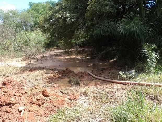 rede de esgoto da Copasa contamina Ribeirão Paciência local de captação de água em Pará de Minas MG (Foto: Vigilância Sanitária/Arquivo pessoal)