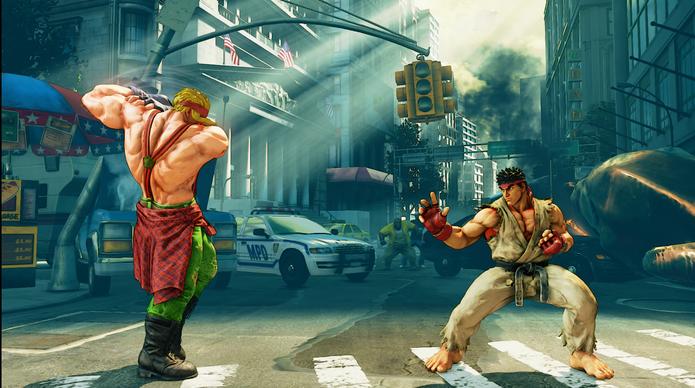 Street Fighter 5: Em sua V-Skill, Alex se alonga para desferir seu próximo golpe como counter hit (Reprodução/Youtube)