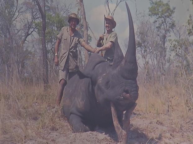 Jorge caçava principalmente leões e elefantes (Foto: Reprodução/TV TEM)