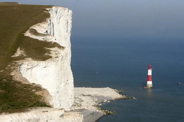Animal despencou do topo do Beachy Head e sobreviveu sem ferimentos (Foto: Brighton Argus/Solent News)