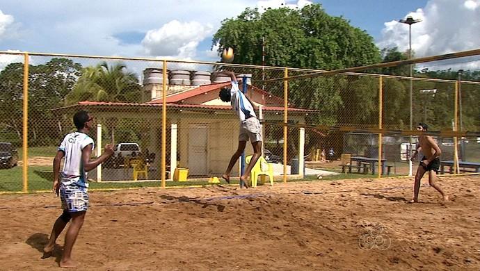 treino vôlei de areia sub-21 aabb-ac (Foto: Reprodução/Rede Amazônica Acre)