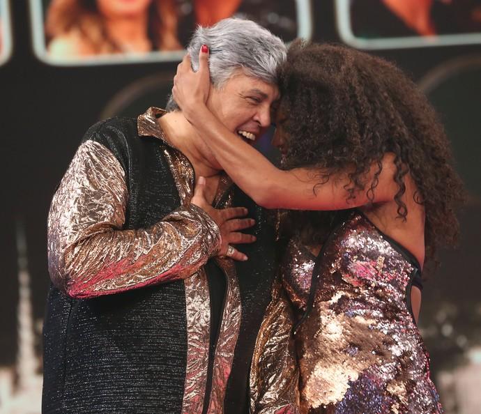 Sidney Magal e Camila Lobo comemoram vaga na semifinal (Foto: Carol Caminha/Gshow)
