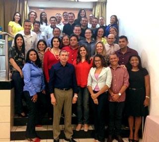 Mais de 40 pessoas que compõem a Rede Clube participaram do encontro.  (Foto: Katylenin França/TV Clube)