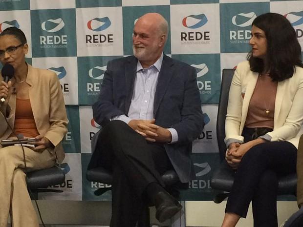 Marina Silva, Ricardo Young e Carlota Mingolla (Foto: Roney Domingos/G1)