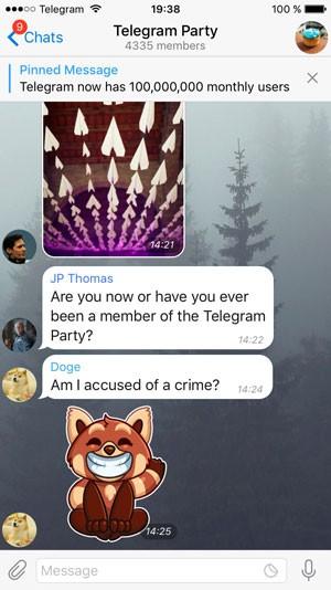 Telegram ganha novo recurso de destaque de mensagens em supergrupos. (Foto: Divulgação/Telegram)