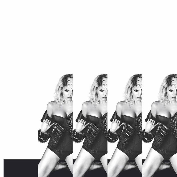 Montagem em preto e branco de Fergie (Foto: Reprodução/ Instagram)