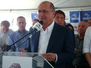 Alckmin falou sobre ação de policiais em Sorocaba (Foto: Jomar Bellini/ G1)