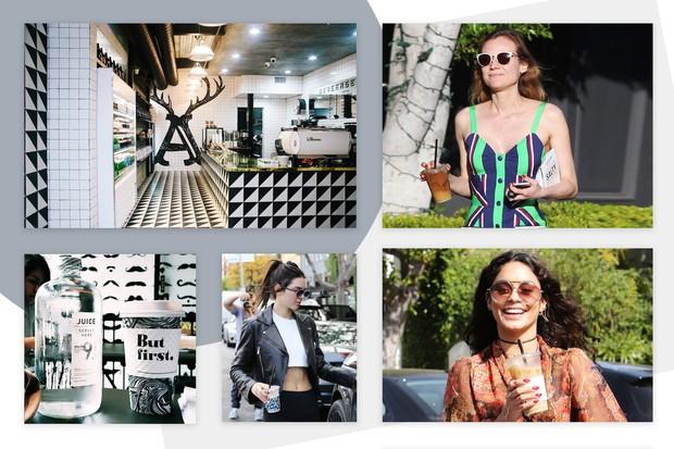 Diane Kruger, Kendall Jenner e Vanessa Hudgens estão entre as frequentadoras do Alfred Coffee and Kitchen (Foto: Reprodução)