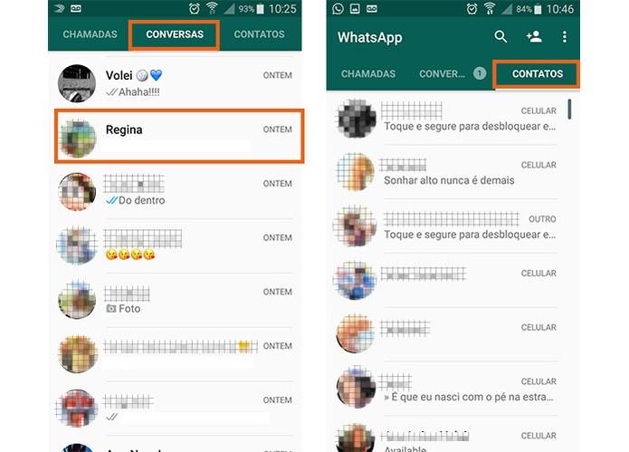 Encontre o contato para iniciar a conversa de vídeo no WhatsApp (Foto: Reprodução/Barbara Mannara)