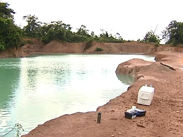 Lagoa azul Santarém (Foto: Reprodução/ TV Tapajós)
