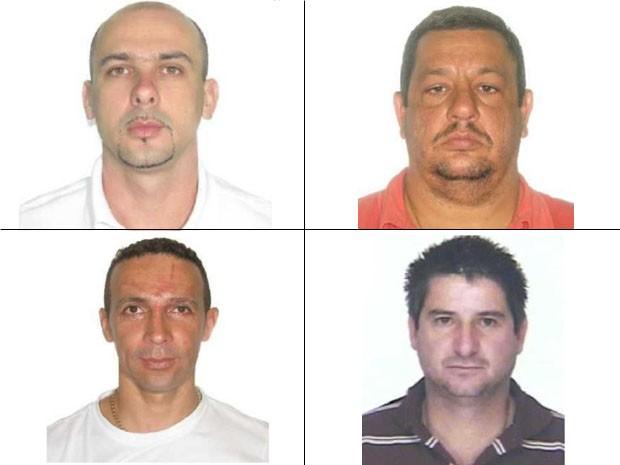 Quatro policiais civis continuam foragidos (Foto: Divulgação/SSP) (Foto: Divulgação/SSP)
