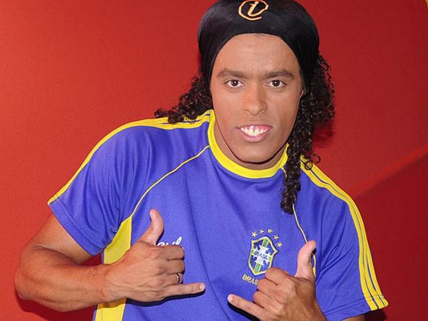 Sósia de Ronaldinho Gaúcho, no Recife (Foto: Adriana Noya / G1)