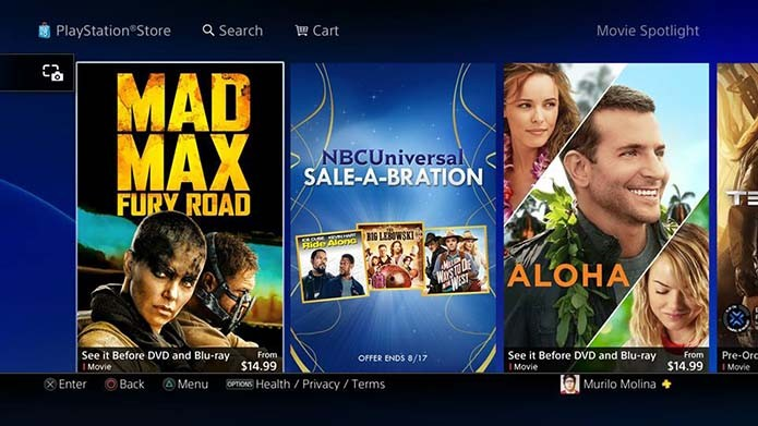 PlayStation Store (Foto: Reprodução/Murilo Molina)