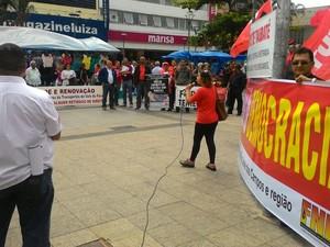 Protesto Taubaté Fora Temer (Foto: Arquivo Pessoal / Júlia Martin)