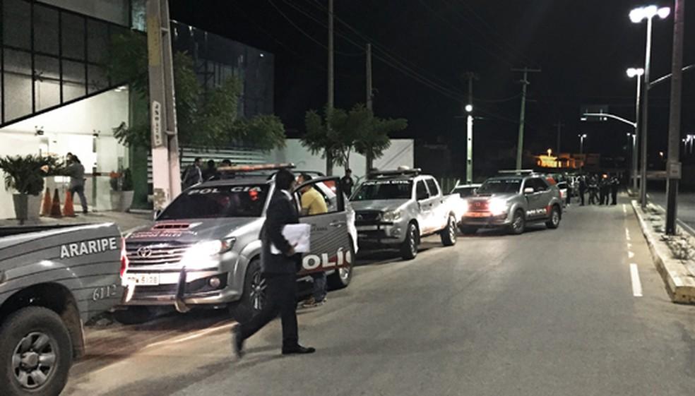 Operação em Saboeiro prendeu quatro suspeitos de uma série de crimes; dois estão foragidos (Foto: MPCE/Divulgação)
