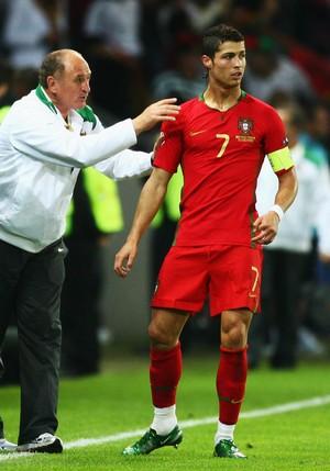 Cristiano Ronaldo e Felipão Eurocopa 2008 (Foto: Getty Images)