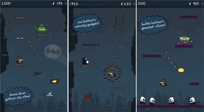 Doodle Jump DC desembarca no universo do Batman no Windows Phone (Foto: Divulgação/Windows Phone Store)