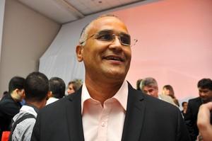 Oliveira Canindé na festa de lançamento da Copa do Nordeste (Foto: Aldo Carneiro/Pernambuco Press)