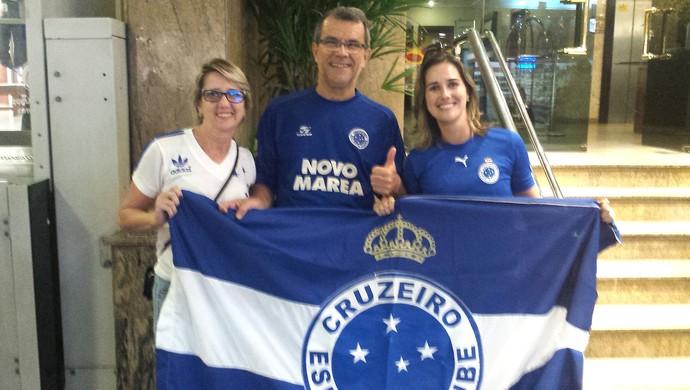 Torcida Cruzeiro em Santos (Foto: Marcos Antonio Astoni)