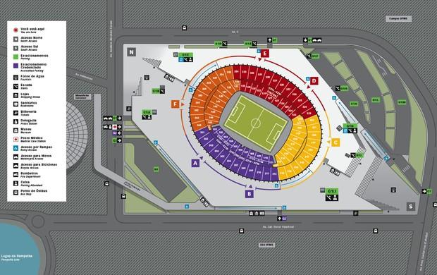 Mapa de fevereiro Mineirão (Foto: Divulgação / Assessoria de Comunicação Minas Arena)