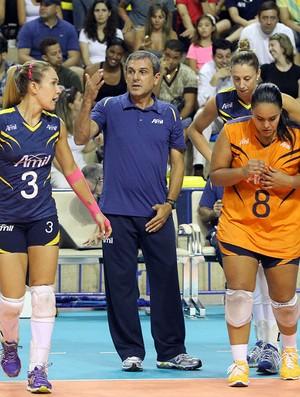 Zé Roberto Guimarães orienta jogadoras do Campinas (Foto: Felipe Christ/Amil/Divulgação)