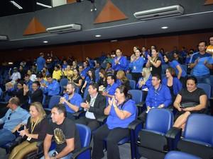 Servidores acompanharam a votação do PCCR (Foto: Detran-RR/Divulgação)
