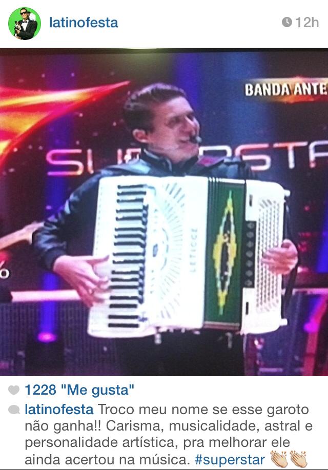 Latino elogia banda paraibana (Foto: Reprodução/Instagram)