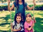Rafa Justus se diverte com filhas de Rodrigo Faro