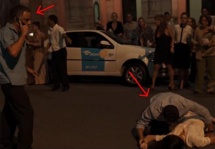 Waldir ligou para ambulância quando Beatriz foi atropelada (Foto: TV Globo)