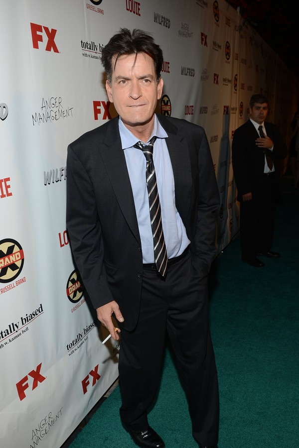 O ator Charlie Sheen, de 'Two and a Half Men' (Foto: Getty Images)