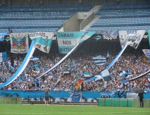 Torcida do Grêmio toma Olímpico em último treino antes do Gre-Nal (Foto: Hector Werlang/Globoesporte.com)