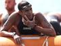 Allan do Carmo chora e agradece reconhecimento na maratona aquática