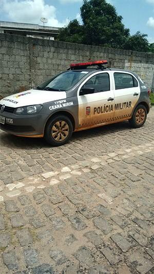 PM de Ceará-Mirim foi chamada assim que os corpos foram encontrados   (Foto: Jocean Pedro)