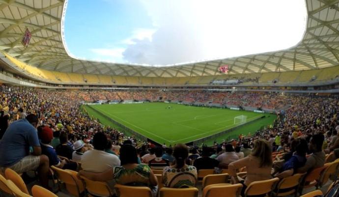 Arena da Amazônia preparativos (Foto: Marina Souza)