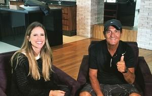Joanna de Assis e Muricy Ramalho (Foto: Reprodução do SporTV)