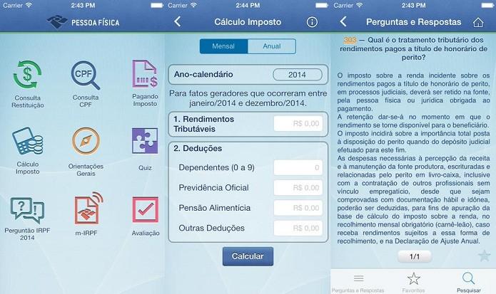 Oriente-se, acesse informações e faça sua declaração no IRPF (Foto: Divulgação/App Store)
