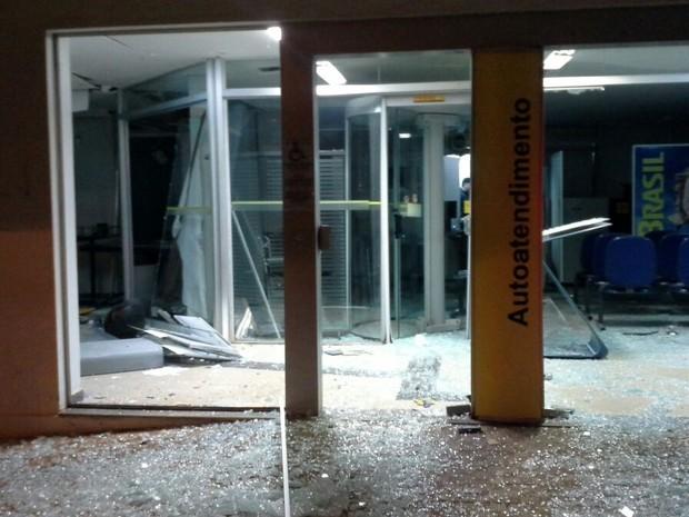 PM procura grupo que explodiu caixa eletrônico em Serra do Salitre (Foto: PM/Divulgação)