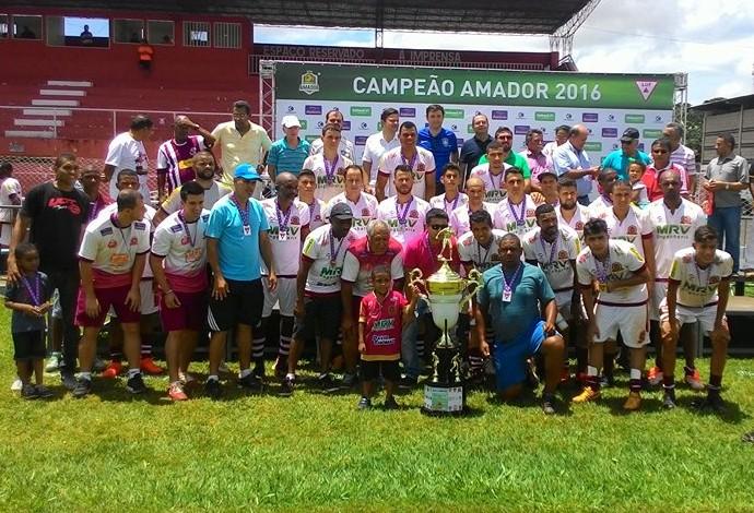Luizote, vice-campeão, Campeonato Amador de Uberlândia, MG (Foto: Lucas Papel)